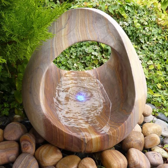 additional image for 45cm Rainbow Babbling Basket Water Feature Kit With LED Lights
