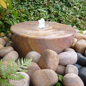 50cm Rainbow Sandstone Mill Wheel Water Feature Kit with LED Lights