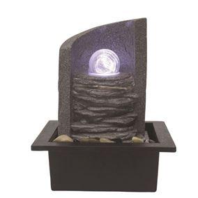 Ancona Lit Crystal Ball Table Top Water Feature