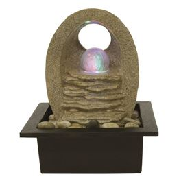 Brescia Lit Crystal Ball Table Top Water Feature
