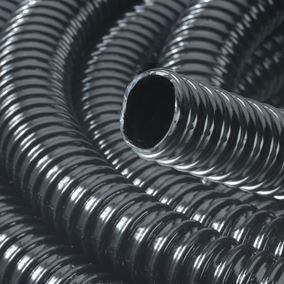 3/4 Inch/19mm Ribbed Black Water Feature Hose (1 Metre)