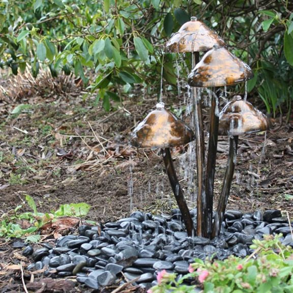 Mushroom Water Feature with LED's