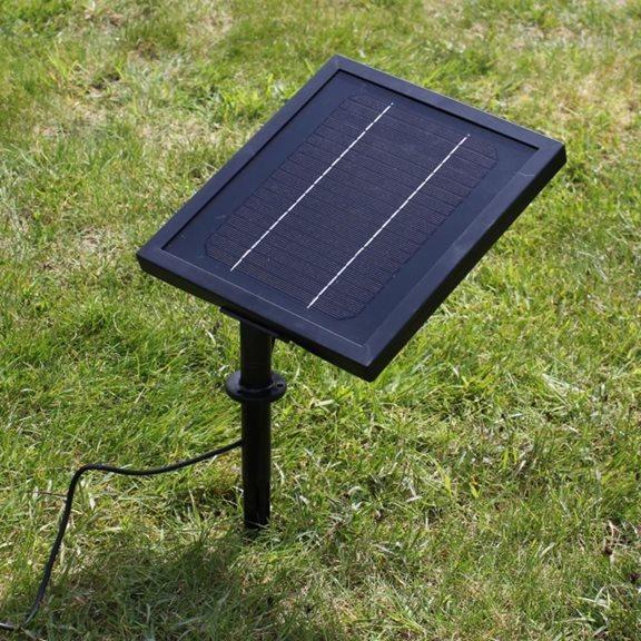 additional image for Iron Heron Outdoor Garden Solar Powered Water Feature