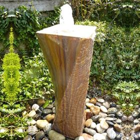 65cm Rainbow Twist Drilled Water Feature Kit