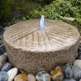 Old Mill Stone Water Feature Fountain Kit