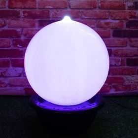 40cm Sphere with Colour Changing LEDs Water Feature