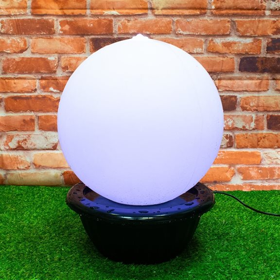 additional image for 40cm Sphere with Colour Changing LEDs Water Feature