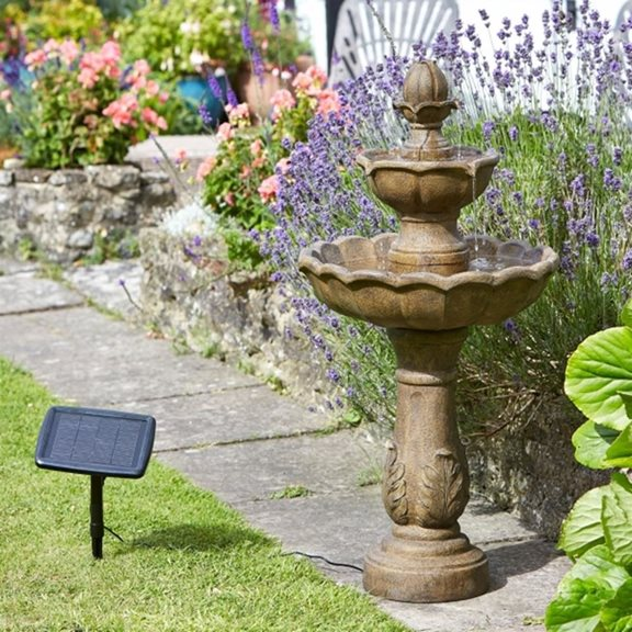 additional image for Kingsbury Two Tier Fountain Solar Water Feature