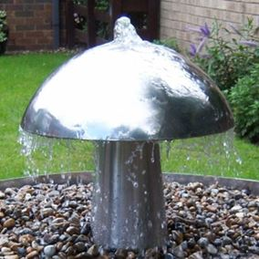 Large Stainless Steel Mushroom Water Feature