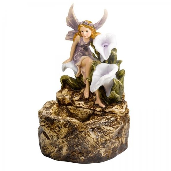 additional image for Magical Fairy On Rock Solar Water Feature
