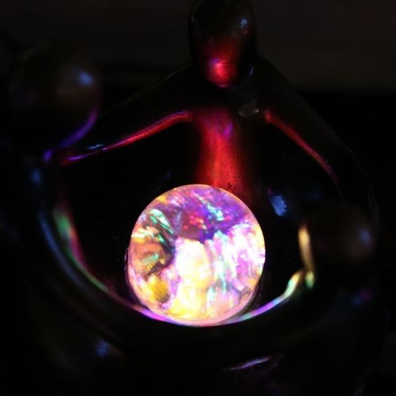 additional image for Crystal Ball Table Top Water Feature with Colour Changing LED's