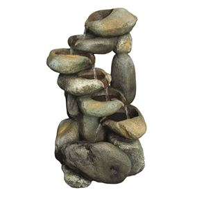 6 Fall Stacked Boulder Water Feature
