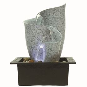 Pareto Pouring LED Lit Indoor Water Feature