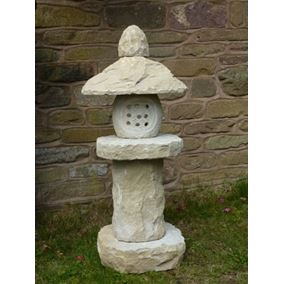 Oriental Lantern in Yellow Sandstone