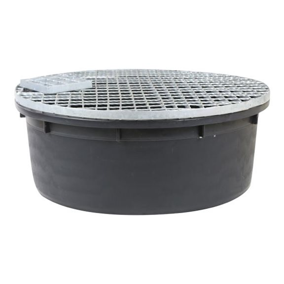 additional image for Extra Large Round Water Feature Pebble Pool 275 Litres 112cm