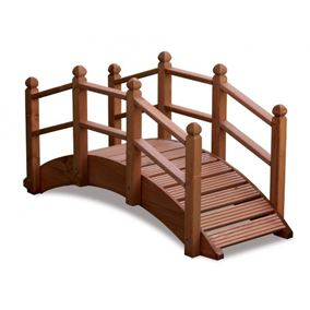 Oriental Wooden Garden Bridge 122cm