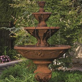 Four Tier Harvest Fountain (Everglade Stone)