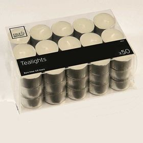 Pack of 50 Halloween Tealights Candles