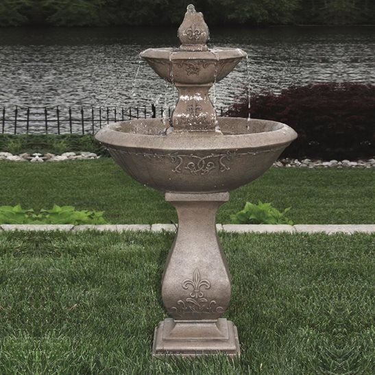 Two Tier Oval Jubilee Fountain Cast Stone Water Feature