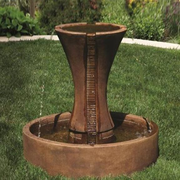 Cast Stone Candia Fluted Fountain