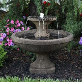 Two Tier Cast Stone Bella Fountain