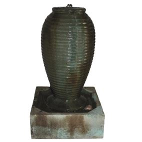 Small Ribbed Jar Water Feature