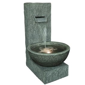 Grey Wall Pouring Cascade Water Feature