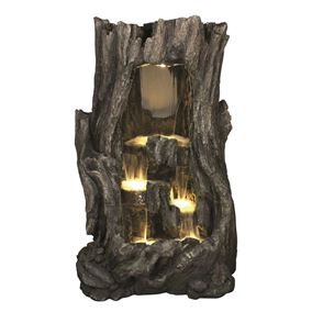 Large Hollow Falls Water Feature with LED Lights