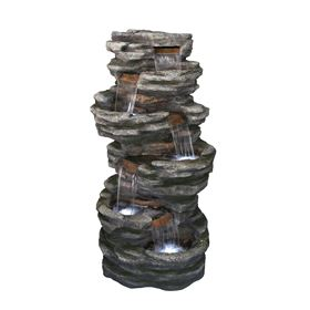 Washington Slate Falls Giant Cascade Water Feature with LED Lights