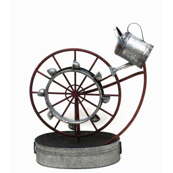 Metal Water Wheel Fountain Water Feature