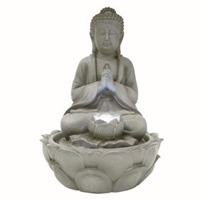 Messina Tranquil Buddha LED Lit Indoor Water Feature