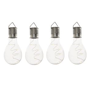 Pack of 4 Solar Powered Retro Light bulbs