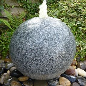 35cm Grey Drilled Granite Flamed Surface Water Feature Kit