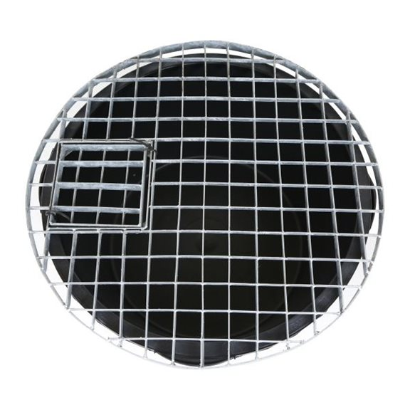 additional image for Extra Large Round Galvanised Steel Water Feature Grid 114cm