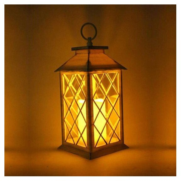 additional image for Square White Candle Lantern (Battery Operated)