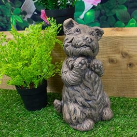 Spirit Westie Dog Stone Garden Ornament