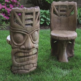 Tiki Aztec Cast Stone Chair