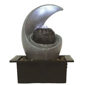Calvera Ribbed Ball LED Lit Indoor Water Feature