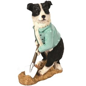 Digging Collie Garden Ornament
