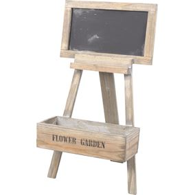 Decorative Wooden Flower Stand with Chalkboard