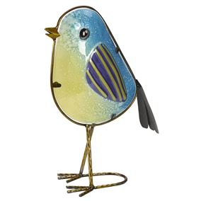 Betsy Blue Tit Glass Decor Garden Ornament