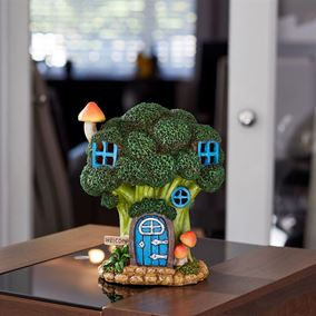 Broccoli Bungalow Elevedon Collection Battery Powered Fairy House Light