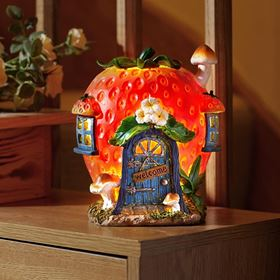 Strawberry Den Elvedon Collection Battery Powered Fairy House Light