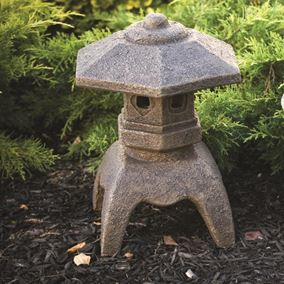 Flat Top Pagoda Cast Stone Ornament
