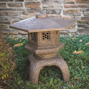Large Hexagon Top Cast Stone Pagoda