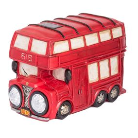 Red Bus Solar Light