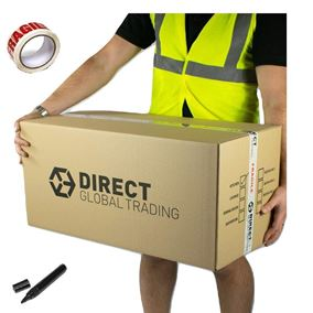 10 Strong Extra Long Large Cardboard Storage Packing Moving House Boxes Double Walled with Room List Free Quality Fragile Tape and Black Marker Pen 76cm x 36.5cm x 38cm
