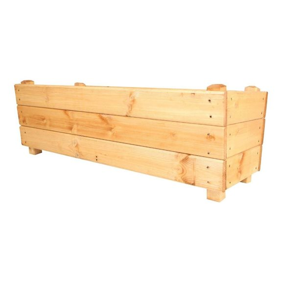 additional image for 1 Metre Deep Wooden Garden Planter Trough