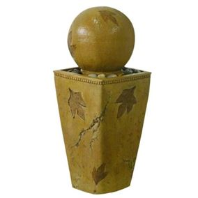 Leaf Design Pedestal Globe Water Feature