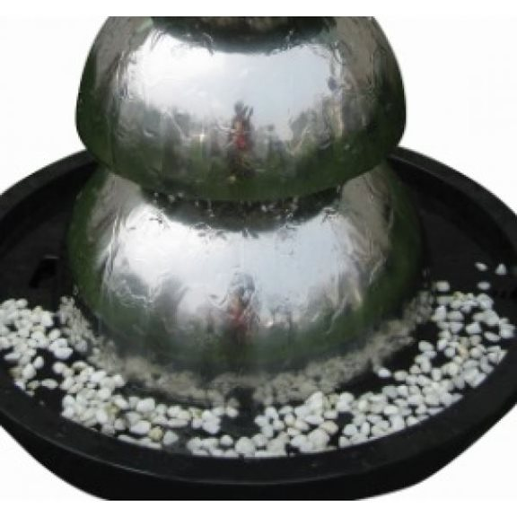 additional image for Bologna Stainless Steel Garden Water Feature